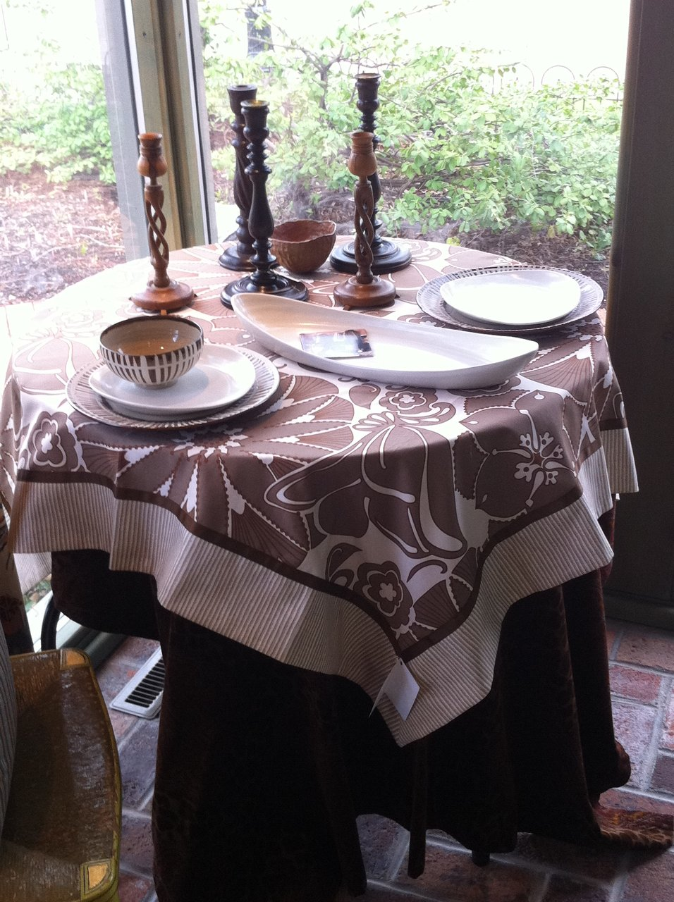 Brown and Cream Table Topper