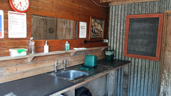 Barn wash-up area