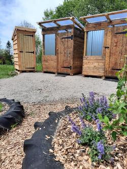 Shower shacks & toilet