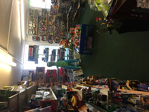 Upstairs in the boy section of Alleykats=z toy shop Bridgnorh,Shropshire
