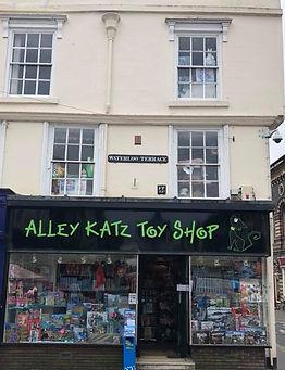 Alleykatz toy shop front in Bridgnorth, Shropshire