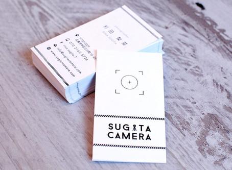 名刺の紙質や印刷にこだわりを。@スギタカメラ様 名刺【グラフィックデザイン】