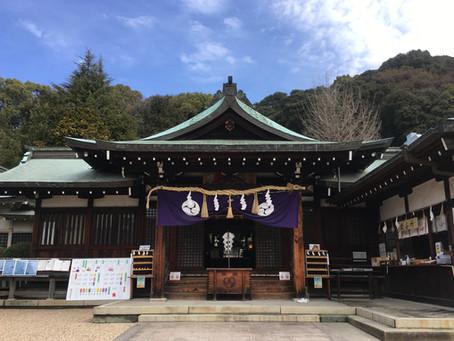 3月の一日参り。@鶴羽根神社