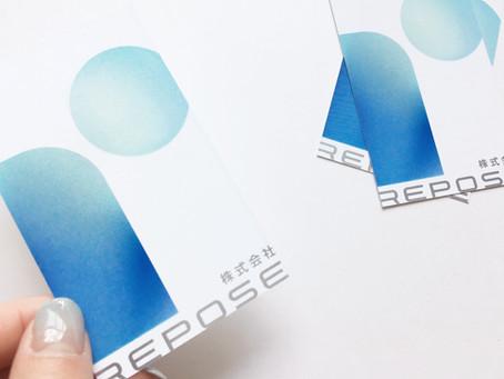 ロゴデザイン@REPOSE様 ロゴ 名刺【グラフィックデザイン】