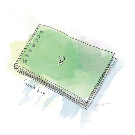 Sketchbook green