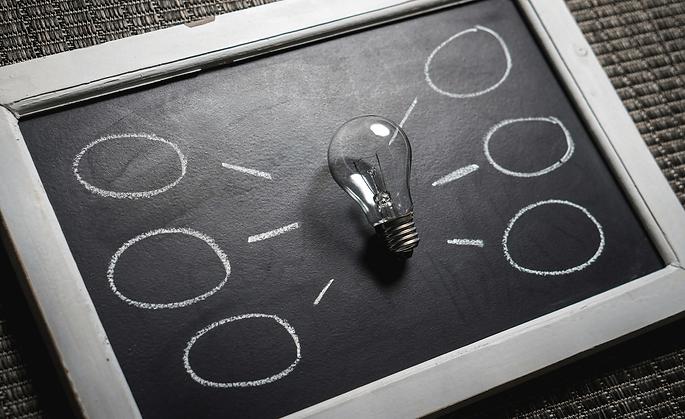 ampoule ardoise idées orientation guider