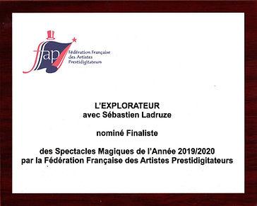 Nomination Finaliste Meilleur spectacle