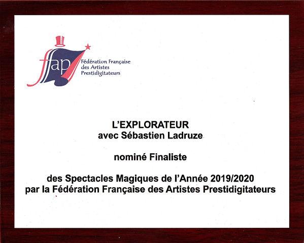 Nomination Finaliste Meilleur spectacle de Magie 2019 2020 FFAP.jpg