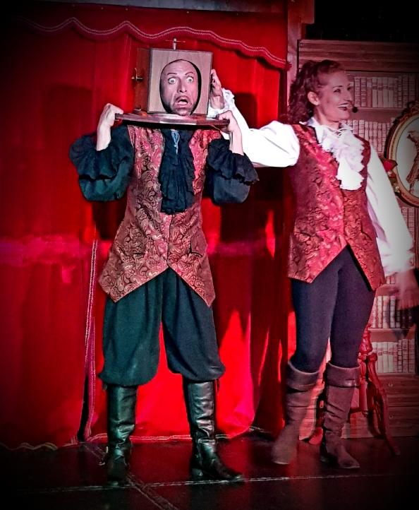 spectacle de magie à l'hôtel des pirates