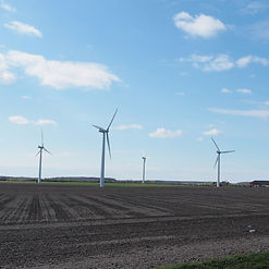 ロラン島の風車。デンマークは再生可能エネルギーによるサステナビリティが普及している
