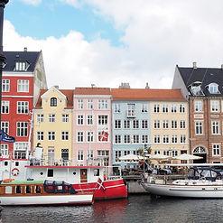 デンマークの首都コペンハーゲン。北欧らしい街並み