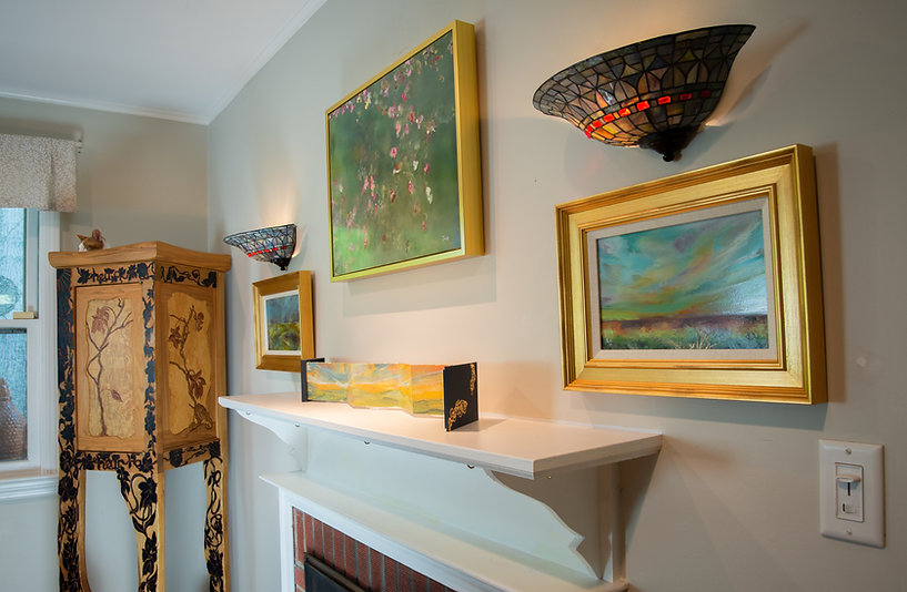 Gallery 71, mantel and wisdom cabinet and book fold.jpg