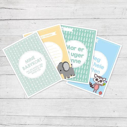 Mine Babykort - Dreng (50 kort)