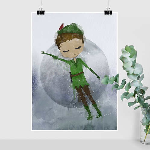Peter Pan (Eventyr) - A5, A4, A3 og 50x70