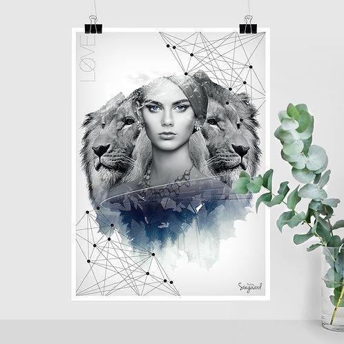 Løve Dame (50x70 med tekst)