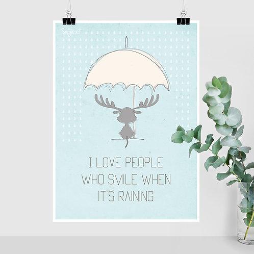 I love people - Blå A4, A3 og 50x70
