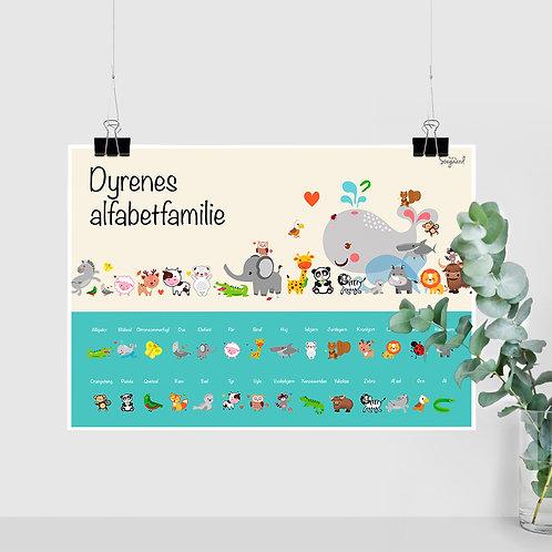 Dyrenes Alfabet Familie - Turkis A2