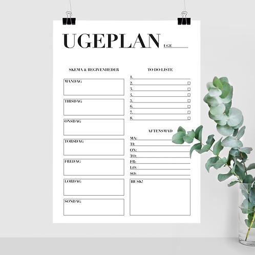 UGEPLAN - Print selv-fil