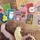 Thumbnail: Dyrenes Alfabet og Tal postkort, 39 stk - Multi A6