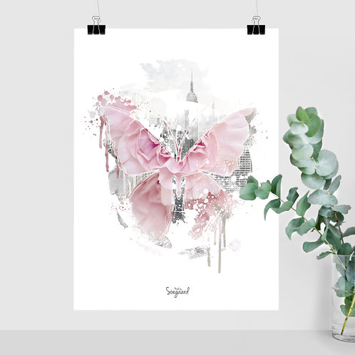 Sommerfugl 50x70 Rosa