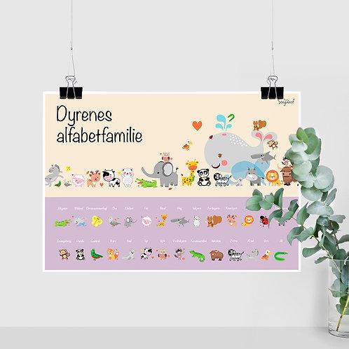 Dyrenes Alfabet Familie - Lilla A2