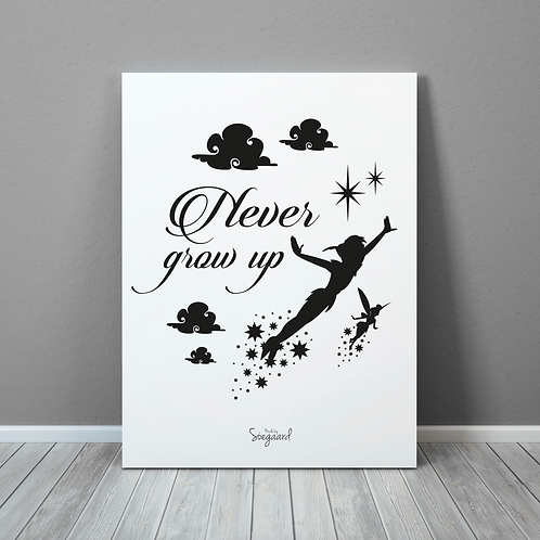 Never grow up - Sort 50x70