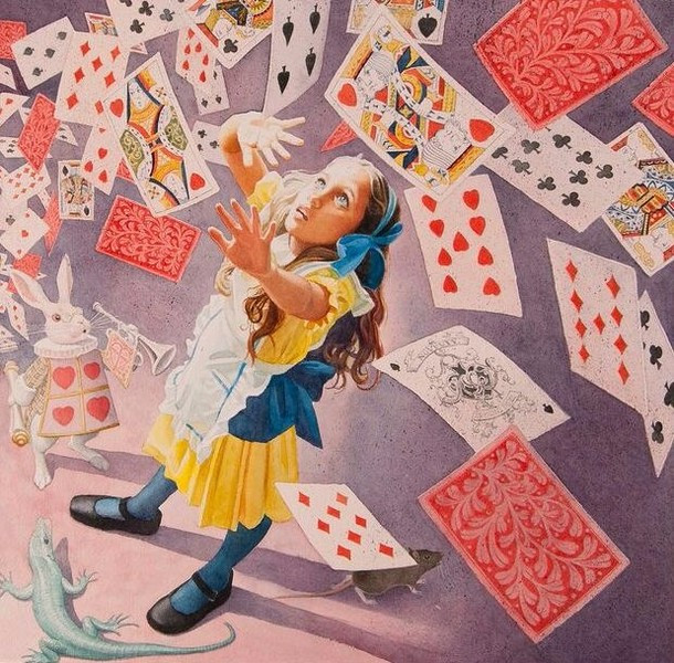 Charles Santore, Cards falling on Alice. 2017