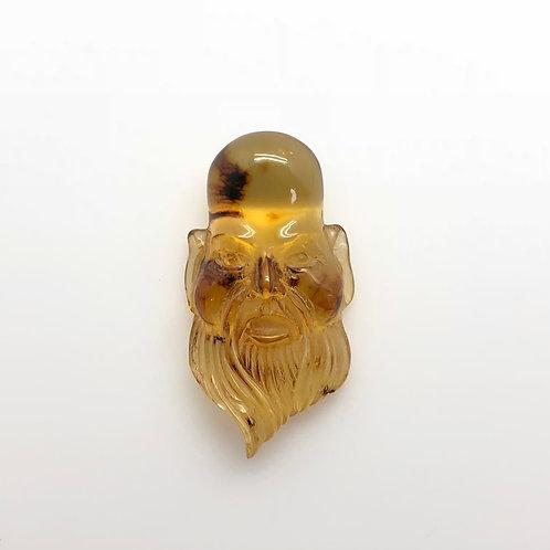 Amber Confucius Carving (AMB232)
