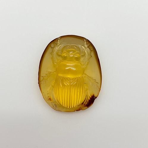 Amber Scarab Carving (AMB243)