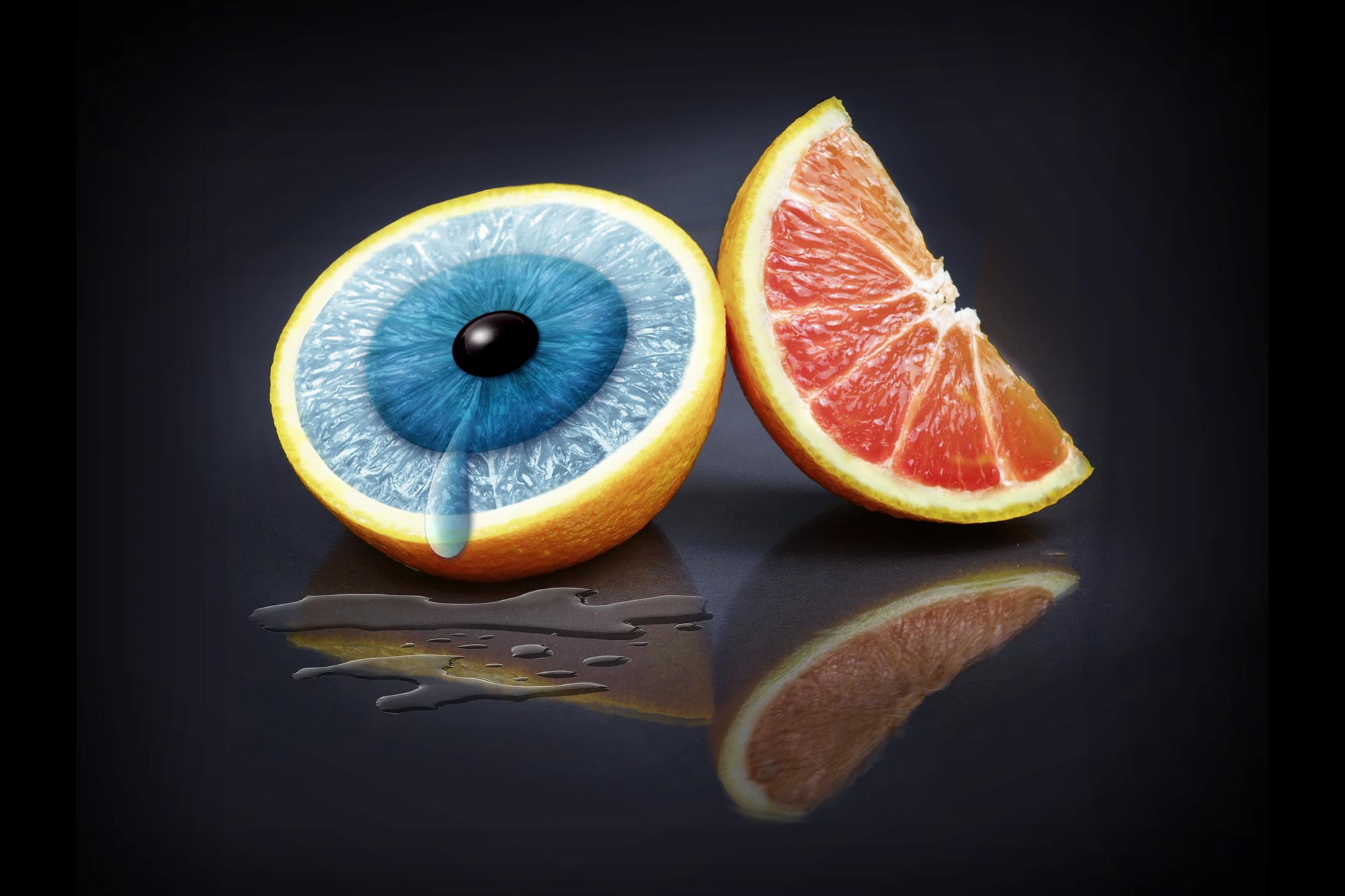 Orangenblau