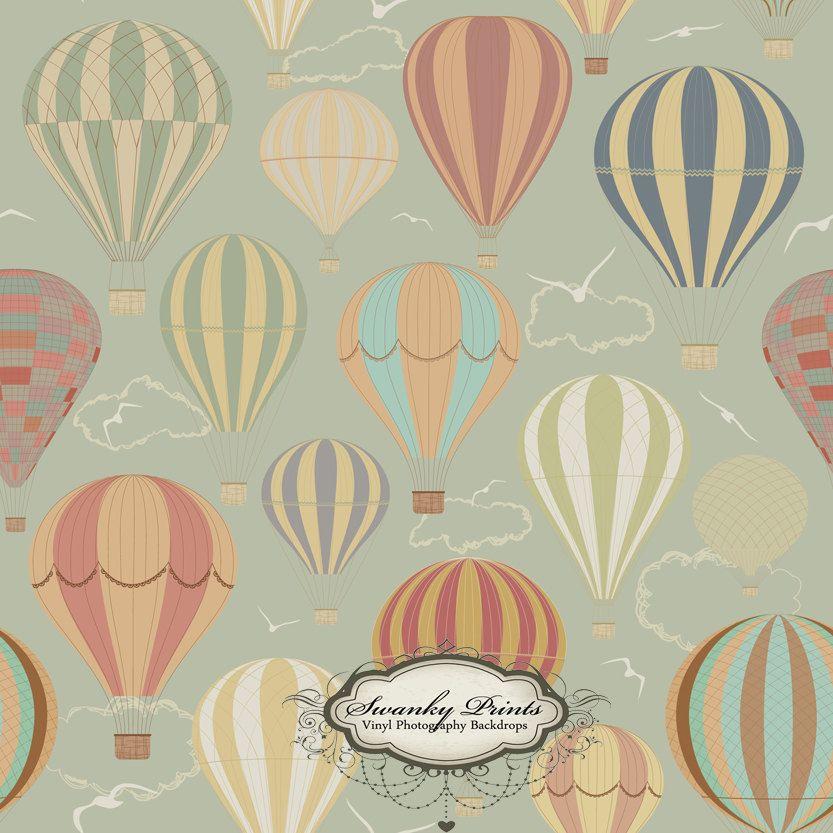 Vintage Hot Air Balloons Drop