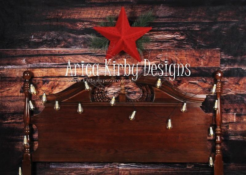 Christmas Wood Bed Drop