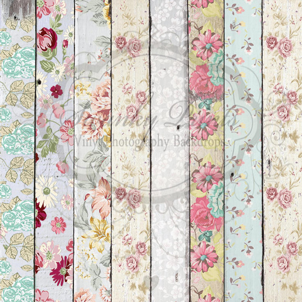Floral Floor Boards Drop