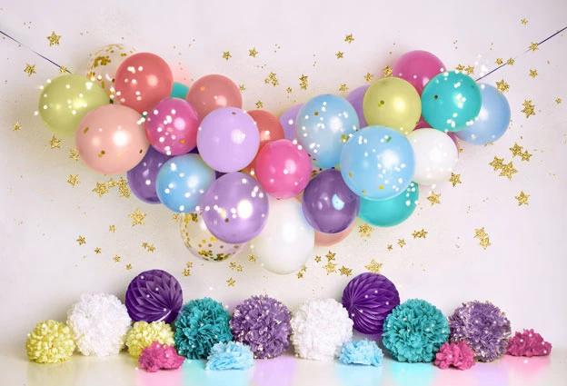 Pink & Purple Balloons Drop