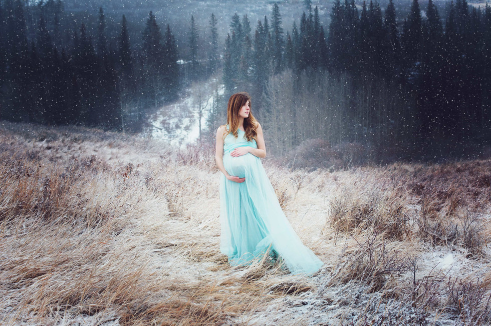 Light Teal X-Small Chiffon Gown