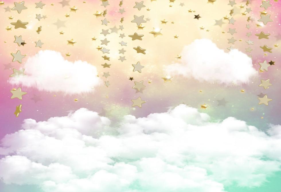 Stars & Clouds Colourful Drop