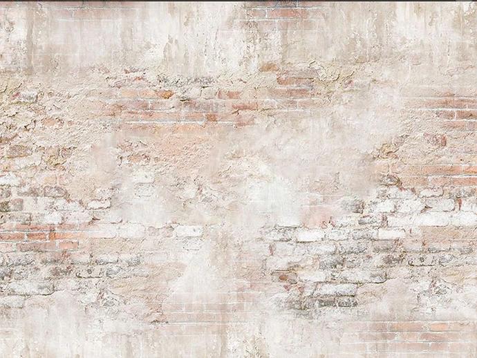 Distressed Brick Wall Drop