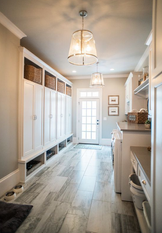 Mudroom lower cabs