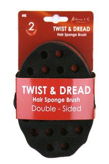 KIM & C Twist & Dread Sponge Brush [Double Sided] #E