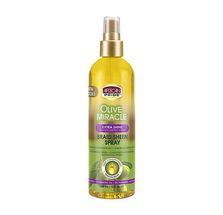African Pride Olive Miracle Sheen Braid Spray [Extra Shine]