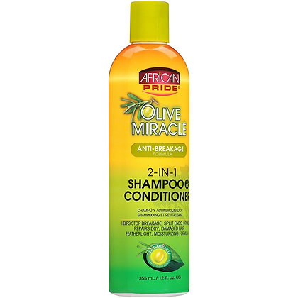 African Pride - Olive Miracle 2 IN 1 Shampoo and Conditioner