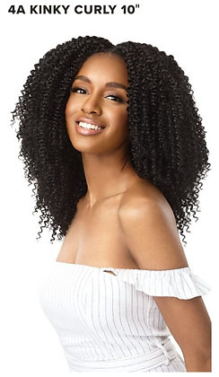 "4A Kinky Curly 10""-Outre Big Beautiful 9pcs Clip Ins"