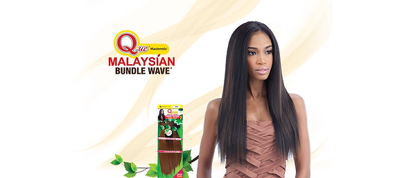 Que - Malaysian Bundle Wave - IRONED TEXTURE STRAIGHT 7PCS Weave Hair Extensions