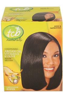 TCB Natural Argan & Olive Relaxer Kit