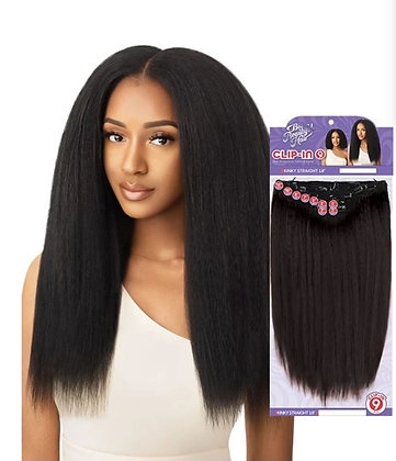 """Outre Big Beautiful Hair Kinky Straight 18"""" 9 Piece Clip In"""