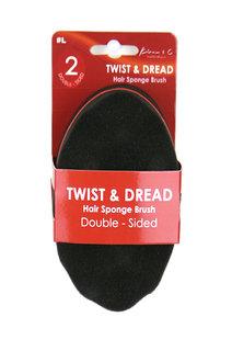 KIM & C Twist & Dread Sponge Brush [Double Sided] MINI #L