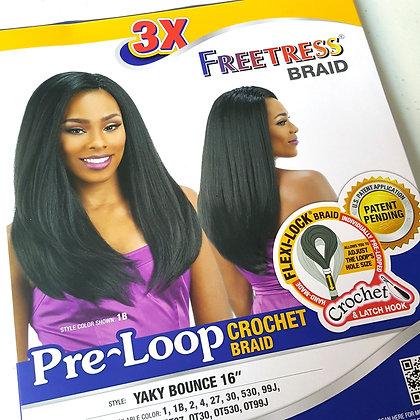 FreeTress - 3X PRELOOP YAKY BOUNCE Crochet Braid
