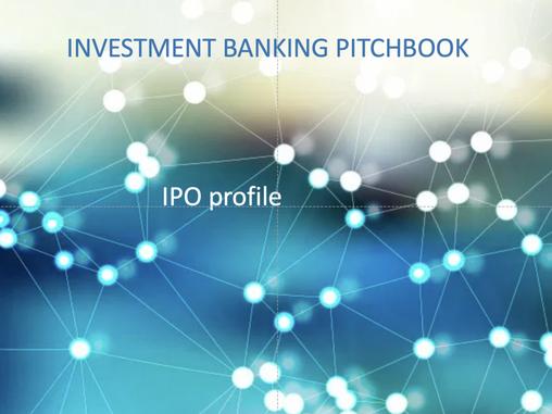 Como fazer um Investment Banking Pitchbook!