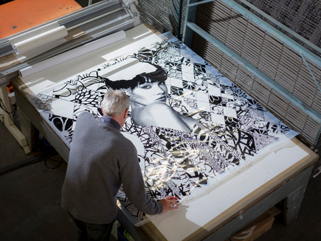 Screen printing still has its traditional skills and expertise.