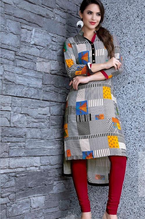 Women's Rayon Printed Designer Kurti